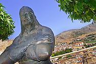 Alberto Carrera, Ibrahim Aliatar Statue, Loja, Medieval Village, Granada, Andalucía, Spain, Europe