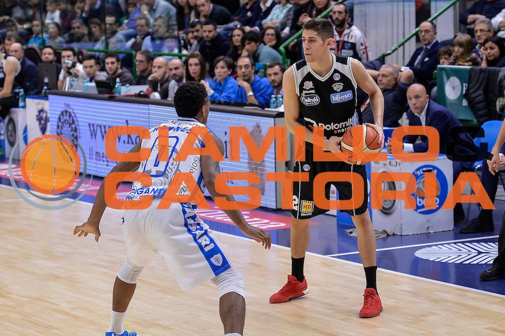 DESCRIZIONE : Campionato 2015/16 Serie A Beko Dinamo Banco di Sardegna Sassari - Dolomiti Energia Trento<br /> GIOCATORE : Diego Flaccadori<br /> CATEGORIA : Passaggio<br /> SQUADRA : Dolomiti Energia Trento<br /> EVENTO : LegaBasket Serie A Beko 2015/2016<br /> GARA : Dinamo Banco di Sardegna Sassari - Dolomiti Energia Trento<br /> DATA : 06/12/2015<br /> SPORT : Pallacanestro <br /> AUTORE : Agenzia Ciamillo-Castoria/L.Canu