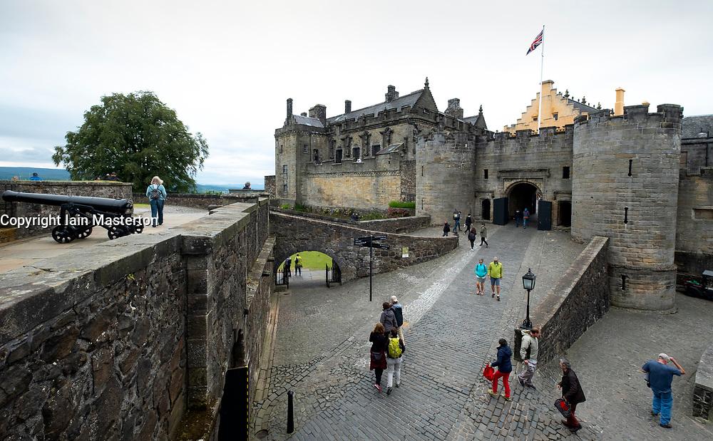 Stirling Castle in Stirling, Scotland, UK