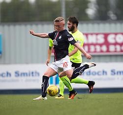 Falkirk's Craig Sibbald scoring their goal. half time : Falkirk 1 v 1 Hibernian, the first Scottish Championship game of season 2016/17, played 6/8/2016 at The Falkirk Stadium.