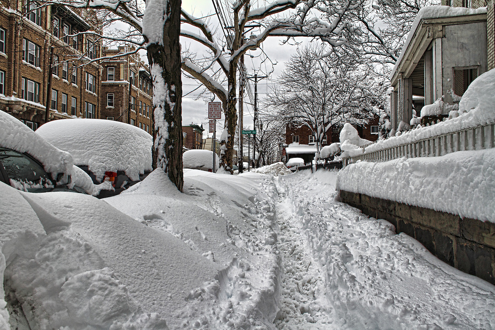 Snow storm in Jersey City, January 27, 2011.