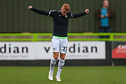 Forest Green Rovers Matthew Worthington(21) warming up during the EFL Trophy match between Forest Green Rovers and Cheltenham Town at the New Lawn, Forest Green, United Kingdom on 4 September 2018.