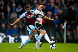 Joe Bryan of Fulham takes on Aaron Lennon of Burnley - Mandatory by-line: Robbie Stephenson/JMP - 26/08/2018 - FOOTBALL - Craven Cottage - Fulham, England - Fulham v Burnley - Premier League