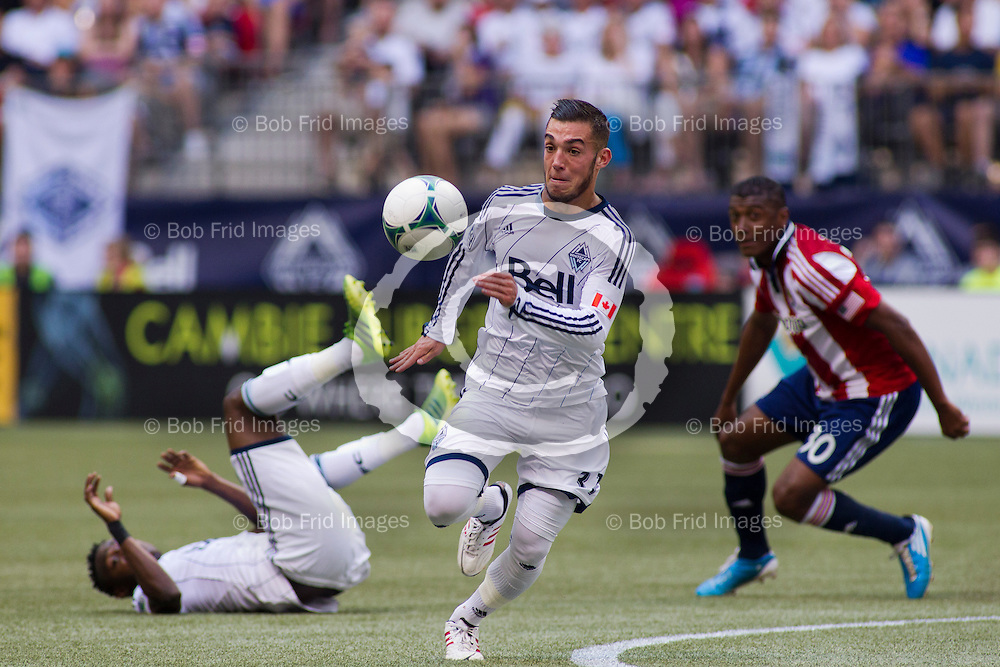 01 September 2013:   Action during a game between Vancouver Whitecaps FC and Chivas USA on Bell Pitch at BC Place Stadium in Vancouver, BC, Canada. Final Score: Vancouver  - Chivas   ****(Photo by Bob Frid - Vancouver Whitecaps 2013 - All Rights Reserved)***
