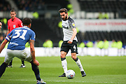 Derby County midfielder Graeme Shinnie  on the ball during the EFL Sky Bet Championship match between Derby County and Blackburn Rovers at the Pride Park, Derby, England on 8 March 2020.