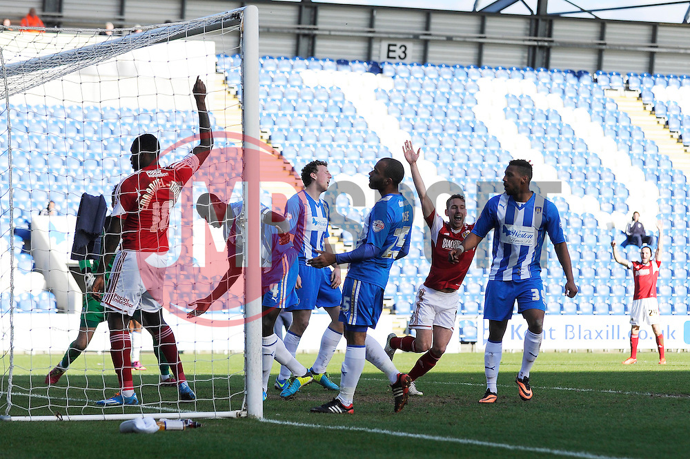 Bristol City's Scott Wagstaff celebrates his goal. - Photo mandatory by-line: Dougie Allward/JMP - Mobile: 07966 386802 22/03/2014 - SPORT - FOOTBALL - Colchester - Colchester Community Stadium - Colchester United v Bristol City - Sky Bet League One