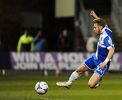 Bristol Rovers' Matty Taylor makes it 3-1 - Photo mandatory by-line: Neil Brookman/JMP - Mobile: 07966 386802 - 20/03/2015 - SPORT - Football - England - Memorial Stadium - Bristol Rovers v Aldershot - Vanarama Football Conference