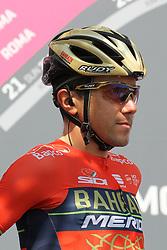 May 25, 2018 - Venaria Reale, Turin, Italy - The cyclist Domenico Pozzovivo of Bahrain Merida Pro Cycling Team before the start of the 19 stage Venaria Reale- Bardonecchia of Giro d'Italia 2018 on May 25, 2018 in Venaria Reale, Turin, Italy. (Credit Image: © Massimiliano Ferraro/NurPhoto via ZUMA Press)