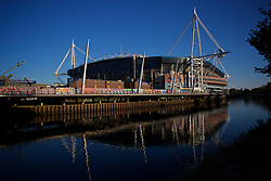 CARDIFF, WALES - Wednesday, October 10, 2018: A general view of the Principality (Millennium Stadium) ahead of the International Friendly match between Wales and Spain. (Pic by David Rawcliffe/Propaganda)