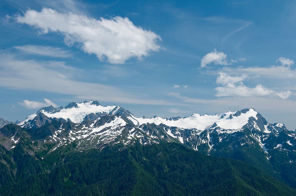 Mount Olympus from the High Divide Trail, Olympic National Park, Washington.