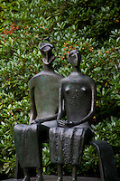 Middleheim Sculpture Park, Antwerp, Belgium - seated couple in bronze