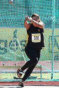 PORT ELIZABETH, SOUTH AFRICA, Friday 13 April 2012, Karin Le Roux in the women's hammer throw during the Yellow Pages South African Senior and Combined Events Championships held at the Xerox Nelson Mandela Metropolitan University, Nelson Mandela Bay..Photo by Roger Sedres/Image SA/ASA