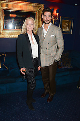 Left to right, BO DEREK and DAVID GANDY at the launch of TAG Heuer's new Aquaracer in the presence of long term friend of the brand Bo Derek held at Tramp, Jermyn Street, London on 8th October 2013.