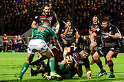 Edinburgh were dominant in the first half of the Guinness Pro 14 2017_18 match between Edinburgh Rugby and Benetton Treviso at Myreside Stadium, Edinburgh, Scotland on 15 September 2017. Photo by Kevin Murray.