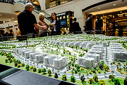 Model of new housing development at Akoya Park by Damac featuring a Trump luxury estate in Dubai United Arab Emirates