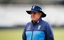 England's coach Trevor Bayliss during the nets session at Lord's, London.