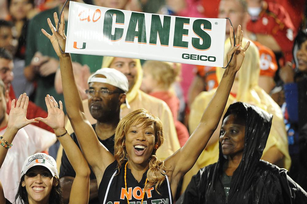 2011 Miami Hurricanes Football @ Maryland<br /> <br /> Miami Hurricanes Fans