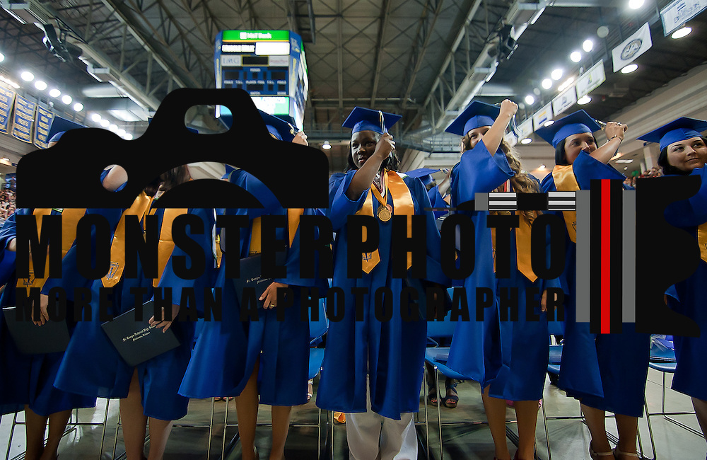 06/07/12 Newark DE: 248 St. Georges Technical High School Senior move their tassel from left to right Thursday, June 7 2012, at The Bob Carpenter Center in Newark Delaware...Special to The News Journal/SAQUAN STIMPSON