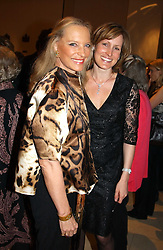 Left to right, HRH PRINCESS MICHAEL OF KENT and SANTA PALMER-TOMKINSON  at a party to celebrate the publication of 'Last Voyage of The Valentina' by Santa Montefiore at Asprey, 169 New Bond Street, London W1 on 12th April 2005.<br /><br />NON EXCLUSIVE - WORLD RIGHTS