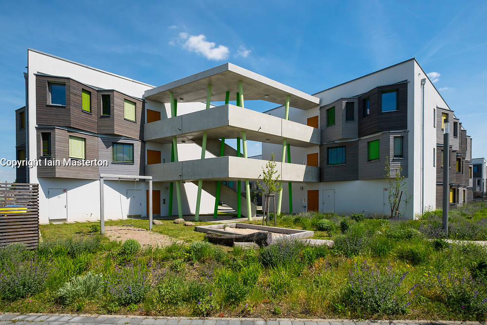 New modern student apartment accomodation blocks at the Science and Technology Park in Adlershof Berlin, Germany