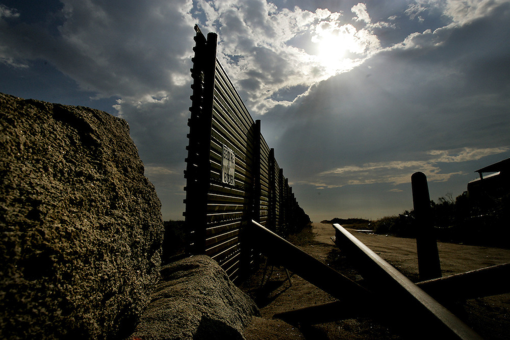 View of Border wall in Campo California.