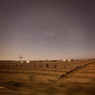 TUNISIA,: Workers in a field on the road beetween Tunis and Kef. Copyright Christian Minelli.