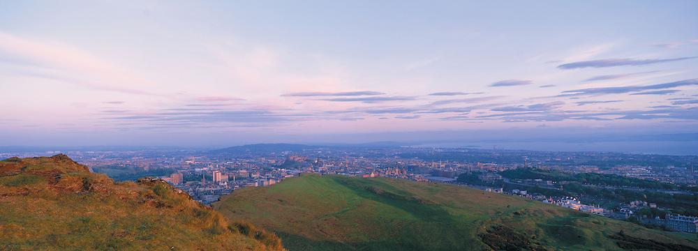 Edinburgh Dawn from Arthurs Seat & Sailsbury Craggs