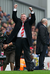 14.05.2011, Ewood Park, Blackburn, ENG, PL, Blackburn Rovers vs Manchester United, im Bild Manchester United's manager Alex Ferguson celebrates winning the FA Premier League after his side scrapped a 1-1 draw with Blackburn Rovers during the Premiership match at Ewood Park, EXPA Pictures © 2011, PhotoCredit: EXPA/ Propaganda/ D. Rawcliffe *** ATTENTION *** UK OUT!