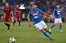 October 14, 2017 - Rome, Italy - Faouzi Ghoulam of Napoli during the Serie A match between Roma and Napoli at Olympic Stadium, Roma, Italy on 13 October 2017. (Credit Image: © Giuseppe Maffia/NurPhoto via ZUMA Press)