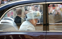 Queen Ellzabeth II and the Duke of Edinburgh arrive ahead of the wedding of Princess Eugenie to Jack Brooksbank at St George's Chapel in Windsor Castle