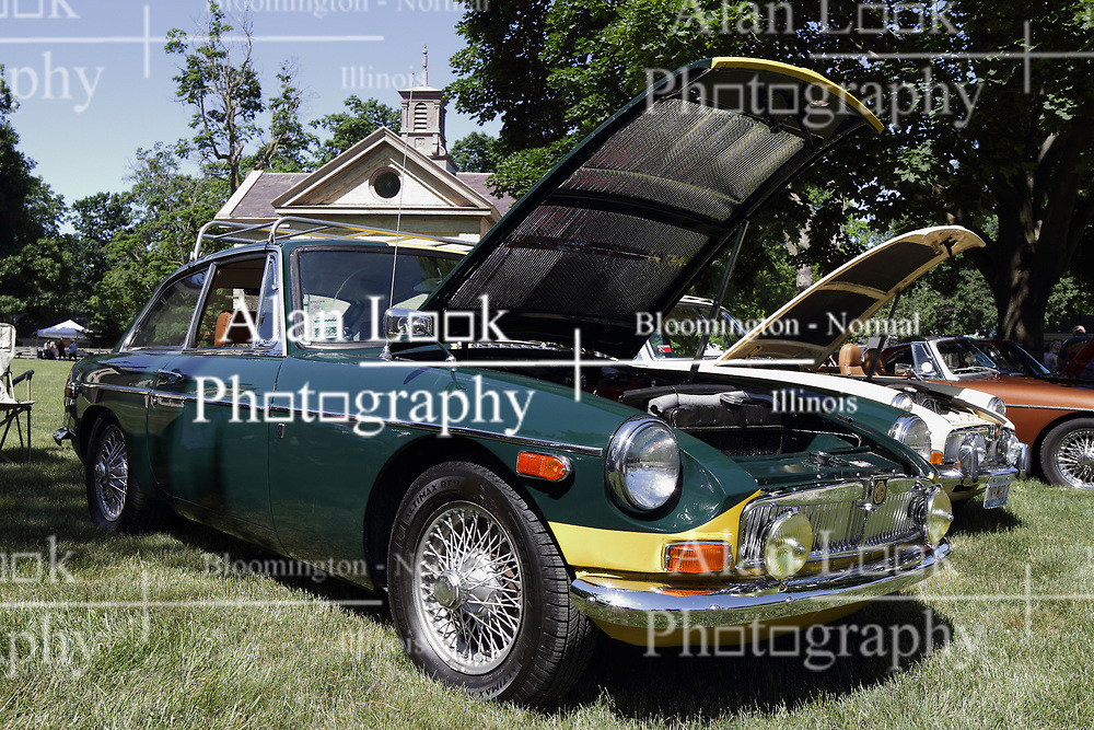 2018 Champagne British Car Festival held on Clover Lawn at David Davis Mansion in Bloomington IL<br /> <br /> MG