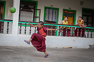 Drepung, Karnataka, India, on  April 11, 2015.<br />