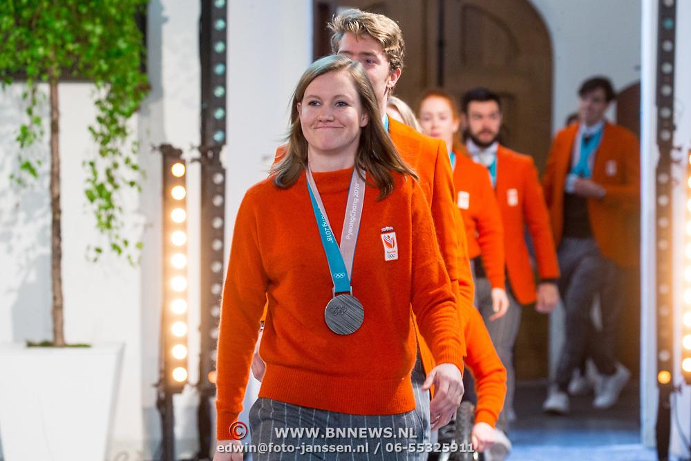 NLD/Den Haag/20180323 - Huldiging Olympische en Paralympische medaillewinnaars, Lotte van Beek