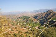Axarquía mountain landscape, Malaga province, Spain