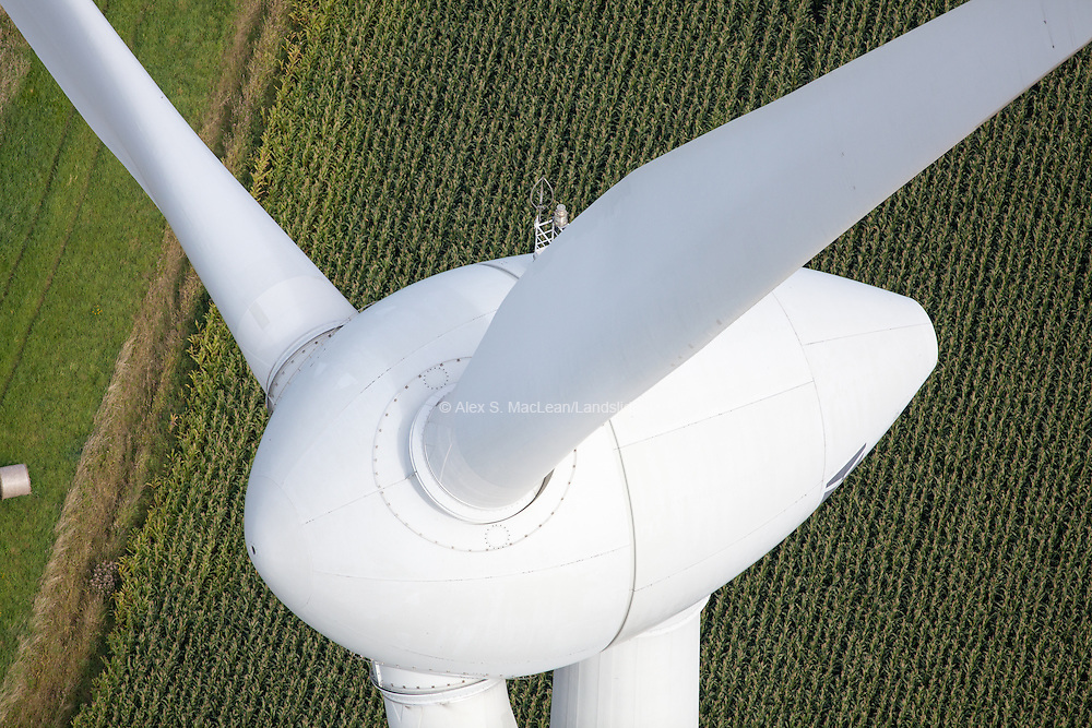 Wind turbine in Emden, Germany 2012.