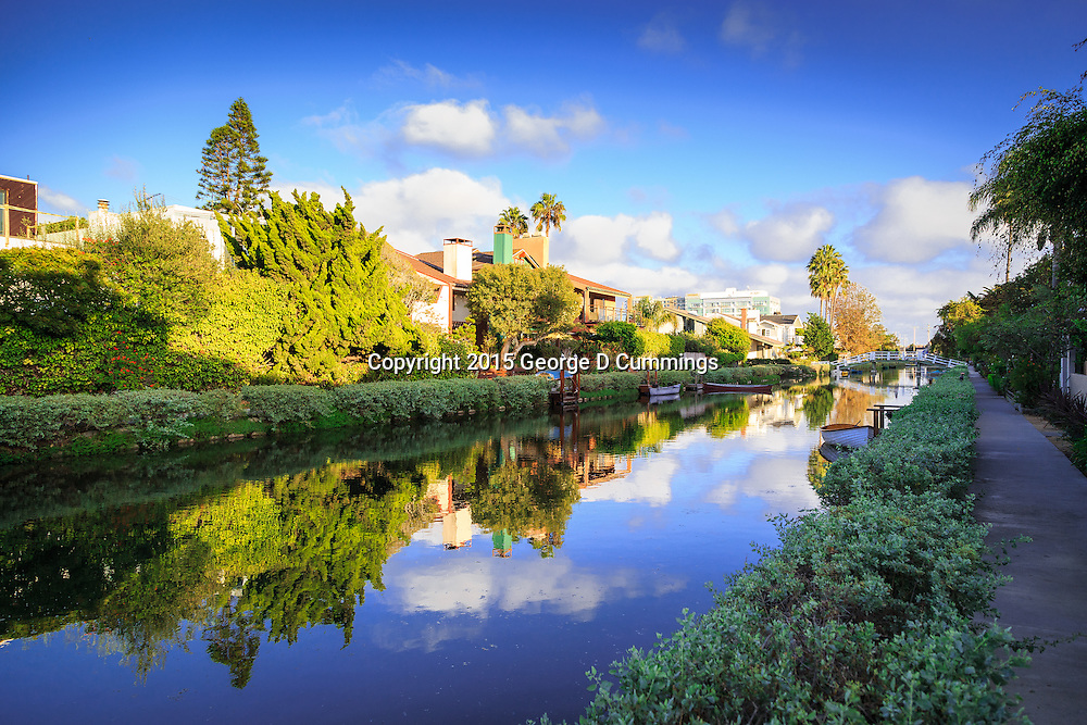 Venice Canals in Venice Beach CA stock photography available for download.