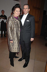 JONATHAN NEWHOUSE and SUZY MENKES at the opening party for 'Face of Fashion' an exhibition of photographs by five of the World's leading fashion photographers held at the National Portrait Gallery, St.Martin's Lane, London on 12th February 2007.<br />