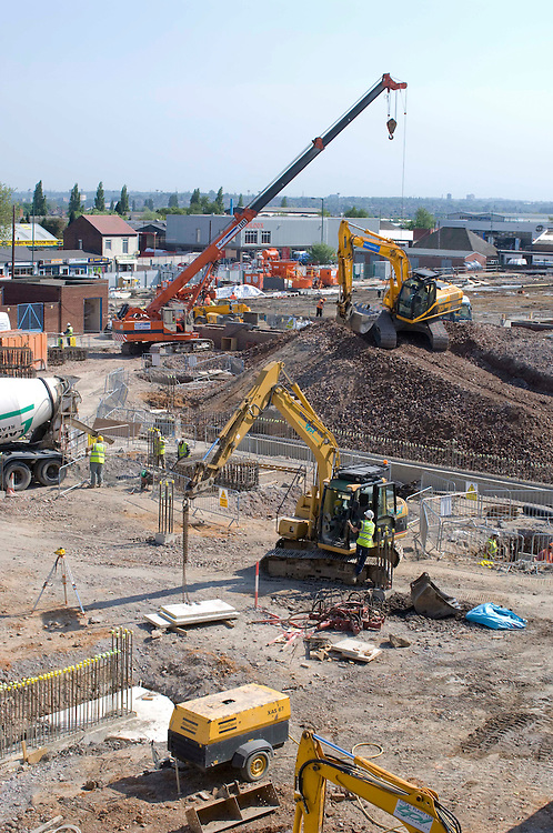 The construction of the new Walsall Manor Hospital