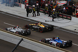 May 12, 2018 - Indianapolis, USA - 5 JAMES HINCHCLIFFE (CAN) SCMIDT PETERSON MOTORSPORTS (USA) HONDA (Credit Image: © Panoramic via ZUMA Press)