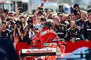 Sebastian Vettel of Scuderia Ferrari takes second place in the Spanish Formula One Grand Prix at Circuit de Catalunya, Barcelona<br /> Picture by EXPA Pictures/Focus Images Ltd 07814482222<br /> 14/05/2017<br /> *** UK &amp; IRELAND ONLY ***<br /> <br /> EXPA-EIB-170514-0105.jpg