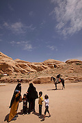 Middle East, Jordan, Petra, UNESCO World Heritage Site. General view of the site