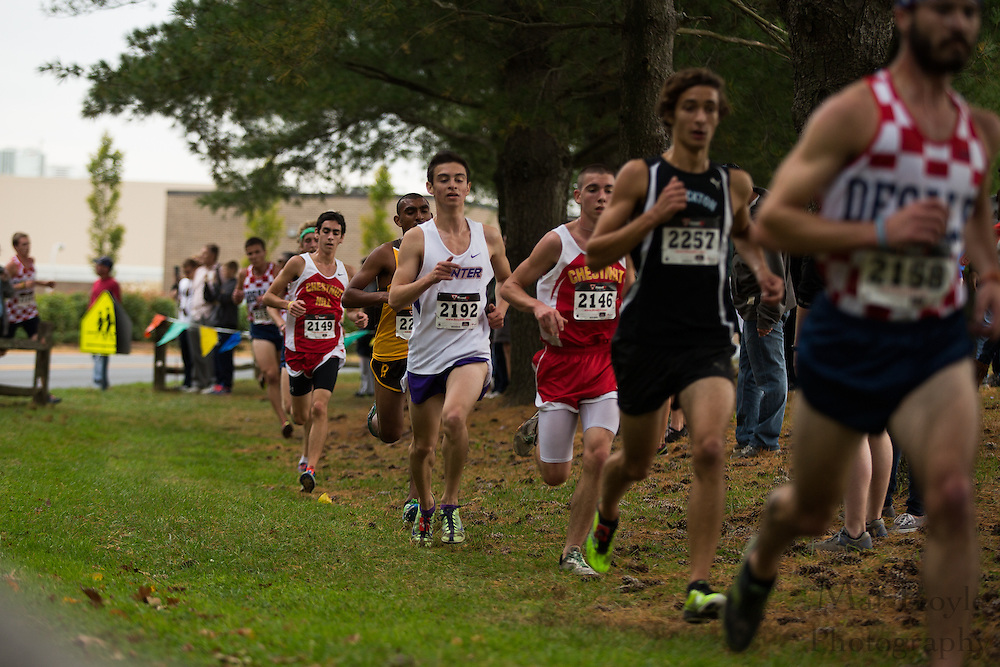 Hunter College Christian Rojas - Collegiate Track Conference  Cross-Country Men's Championship at Gloucester County College in Sewell, NJ on Saturday October 19, 2013. (photo / Mat Boyle)