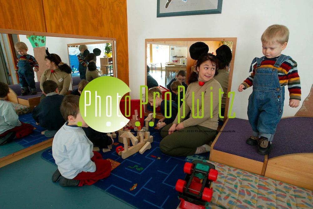 Mannheim. Kindergarten Neckarau. Katharinenstr. Tag der offenen T&uuml;r. Kiga Leitung<br /> <br /> Bild: Markus Pro&szlig;witz