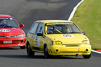 #55 M Shilcock / J Shilcock Ford Fiesta 1800 during the CSCC Tin Tops at Oulton Park, Little Budworth, Cheshire, United Kingdom. October 15 2016. World Copyright Peter Taylor/PSP. <br /> Copy of publication required for printed pictures.  Every used picture is fee-liable. http://archive.petertaylor-photographic.co.uk