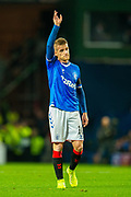Steven Davis (#10) of Rangers FC during the Europa League match between Rangers FC and Feyenoord Rotterdam at Ibrox Stadium, Glasgow, Scotland on 19 September 2019.