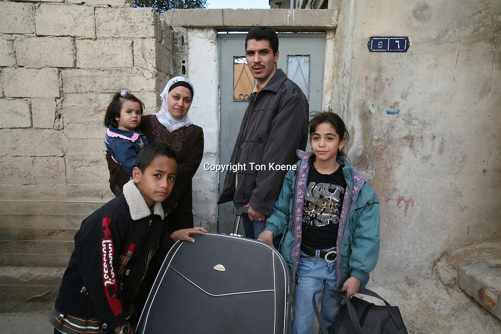 Refugee family from Iraq in Amman, Jordan