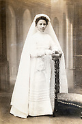 girls first communion portrait France circa 1930s