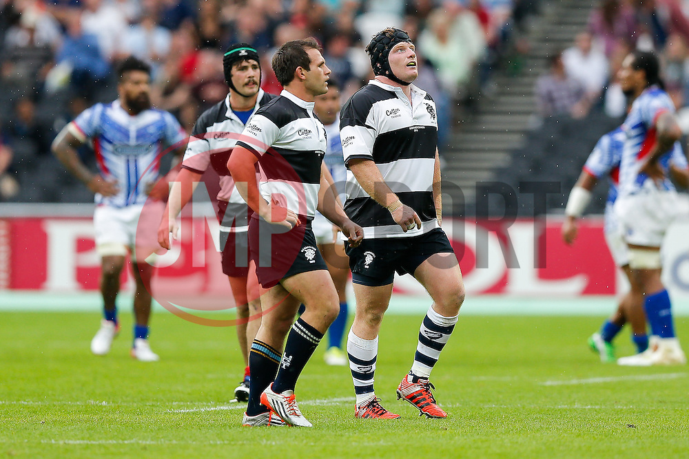 Barbarians replacement Kyle Traynor (Bristol Rugby) looks on - Mandatory byline: Rogan Thomson/JMP - 07966 386802 - 29/08/2015 - RUGBY UNION - The Stadium at Queen Elizabeth Olympic Park - London, England - Barbarians v Samoa - International Friendly.