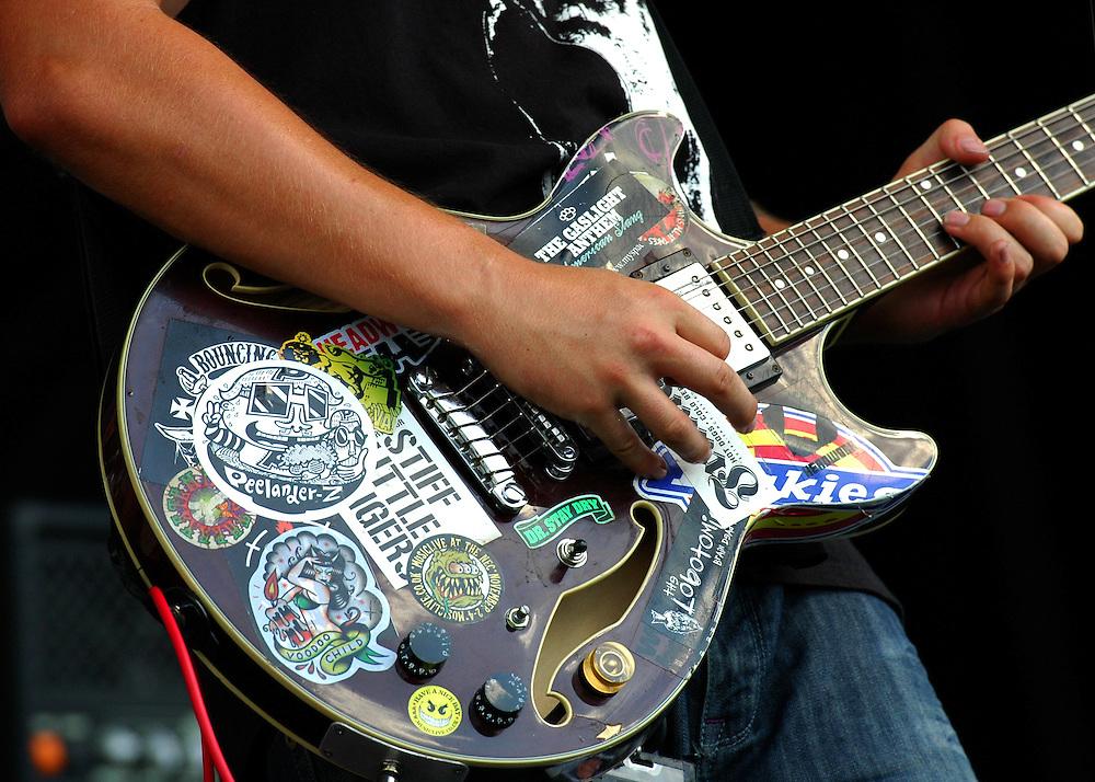 Guitarist pleases the crowd at Vans Warped Tour stop in Atlanta, Georgia