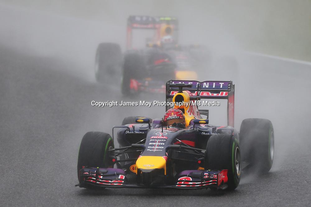 Sebastian Vettel (GER) Red Bull Racing RB10.<br /> Japanese Grand Prix, Sunday 5th October 2014. Suzuka, Japan.